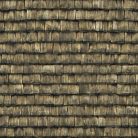 Seamless wood shingles roof texture #6981