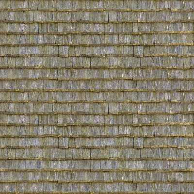 Seamless wood shingles roof texture #6973