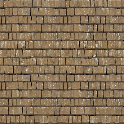 Seamless wood shingles roof texture #6975