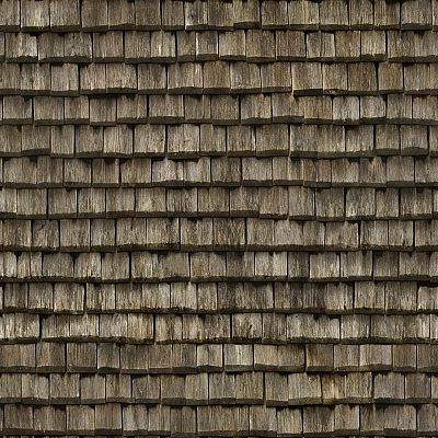 Seamless wood shingles roof texture #6982