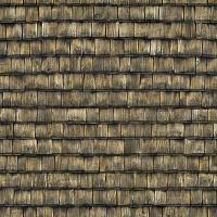 Seamless wood shingles roof texture #6980