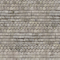Seamless wood shingles roof texture #6977